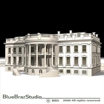 the white house v2 3d model 3ds dxf c4d obj 91893