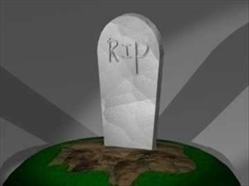 tombstone 3d model 3ds dxf lwo 81018