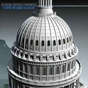 us capitol dome 3d model 3ds dxf c4d obj 91527