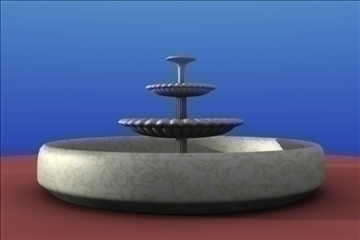 water fountain 3d model blend 111162