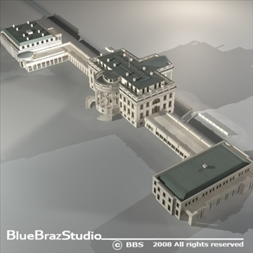 white house 3d model 3ds dxf c4d obj 91988