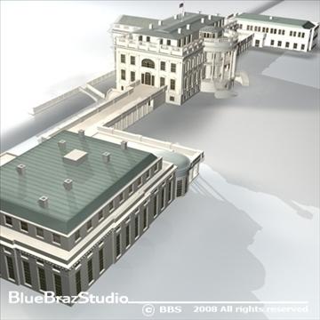 цагаан байшин 3d загвар 3ds dxf c4d obj 91991