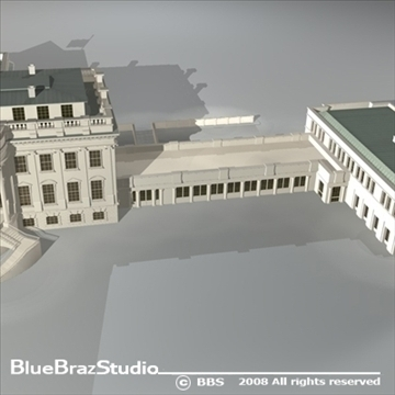 цагаан байшин 3d загвар 3ds dxf c4d obj 91993