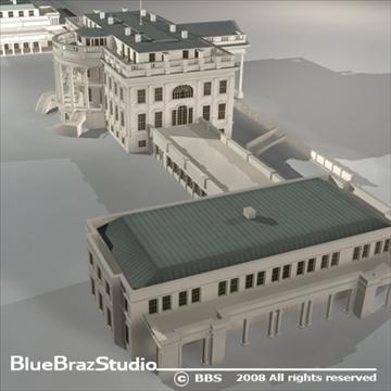 цагаан байшин 3d загвар 3ds dxf c4d obj 91994
