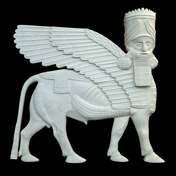 assyrian bas relief sculpture centaur 3d model 3ds max fbx texture obj 120842