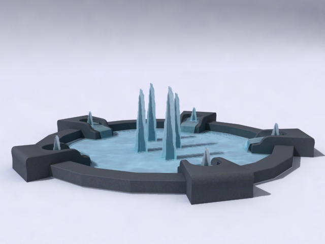 kontemporari-fountain-model 3d 3ds max obj 138190