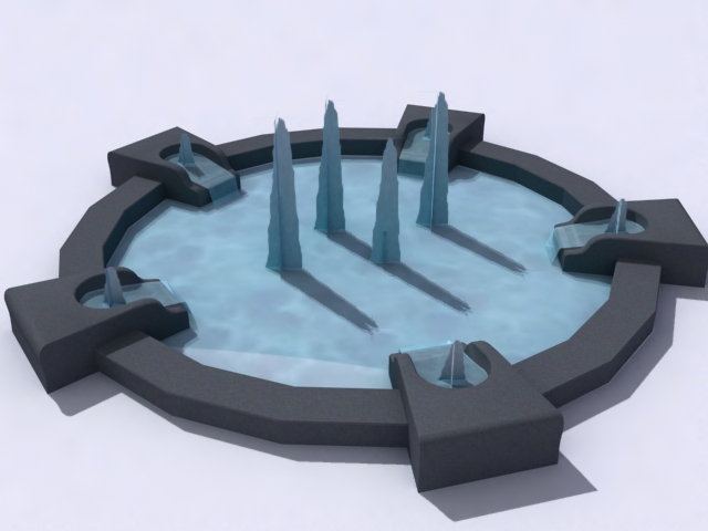 contemporary-fountain-a 3d model 3ds max obj 138191