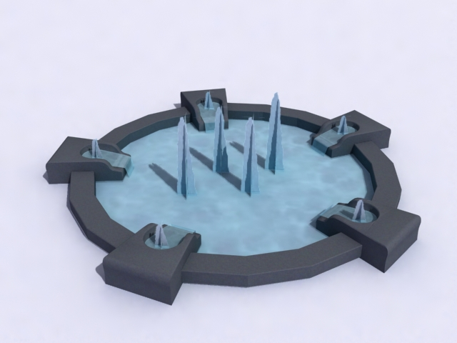 contemporary-fountain-a 3d model 3ds max obj 138192