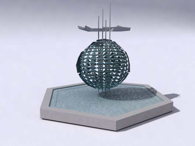 kontemporari-fountain-b 3d model 3ds max obj 138195