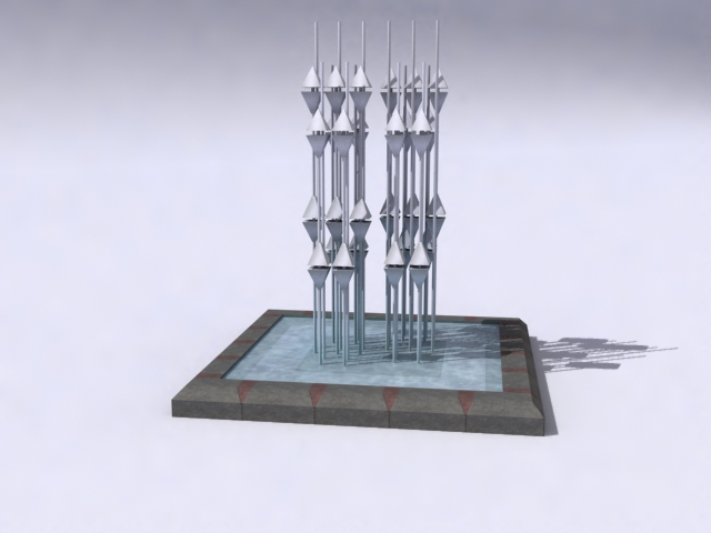 contemporary-fountain-c 3d model 3ds max obj 138200