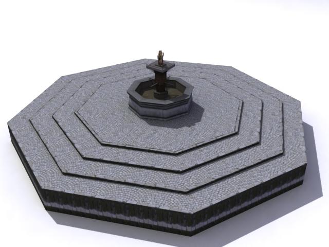fountain-a 3d model 3ds max obj 138166