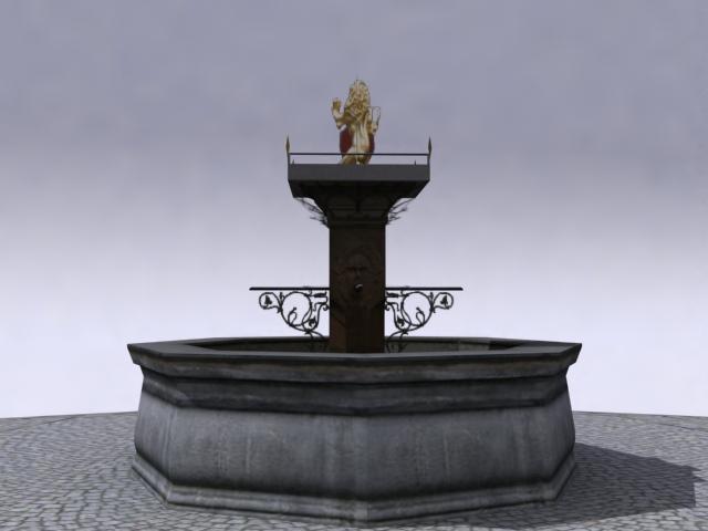 fountain-a 3d model 3ds max obj 138167