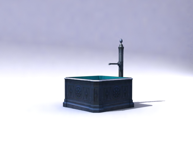 fountain-b 3d model 3ds max obj 138170
