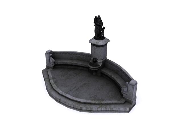 fountain-c 3d model 3ds max obj 138177