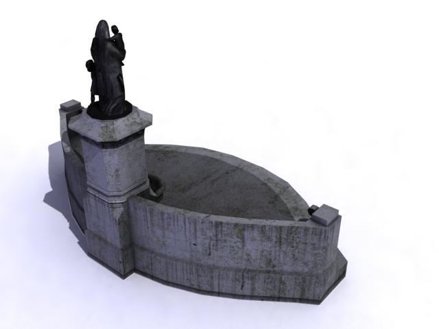 fountain-c 3d model 3ds max obj 138178