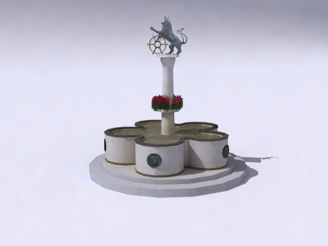 fountain-d 3d model 3ds max obj 138180