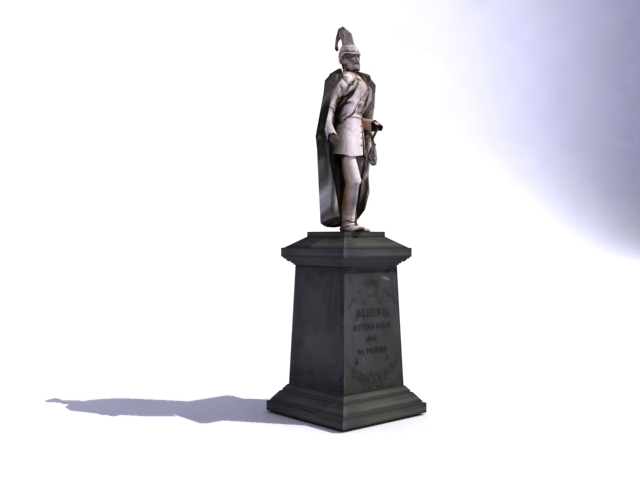 kaiser wilhelm monument 3d model 3ds max obj 138215