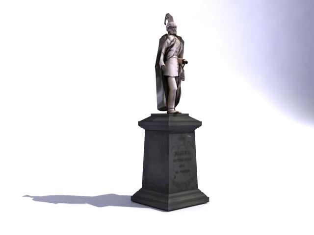 kaiser wilhelm spomenik 3d model 3ds max obj 138215