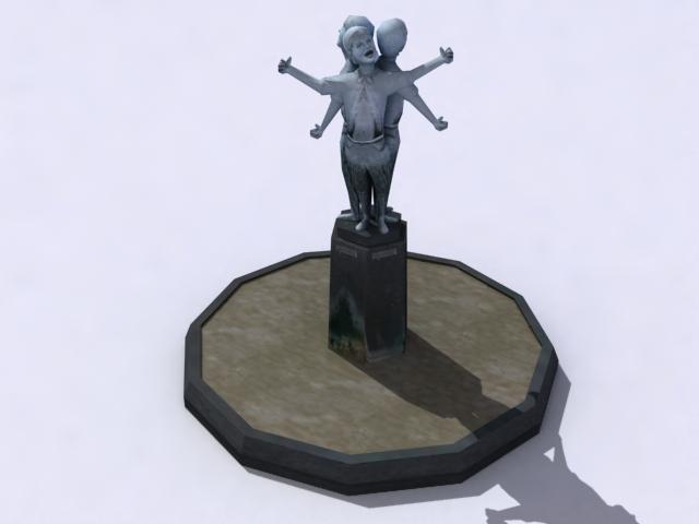 monument-sculptured-a 3d model 3ds max obj 138206