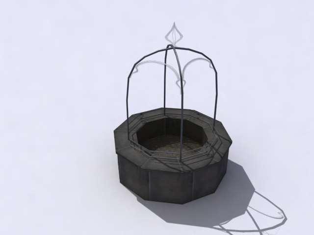 monument-well 3d model 3ds max obj 138211