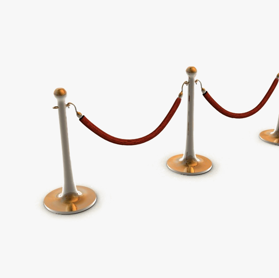 stanchions and rope barrier 3d model 3ds max fbx c4d obj 138589