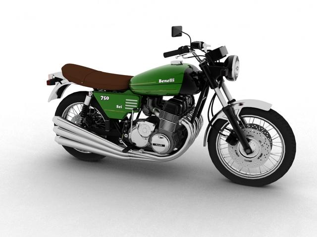 benelli 750 sei 1976 3d mudel 3ds max fbx c4d obj 154588