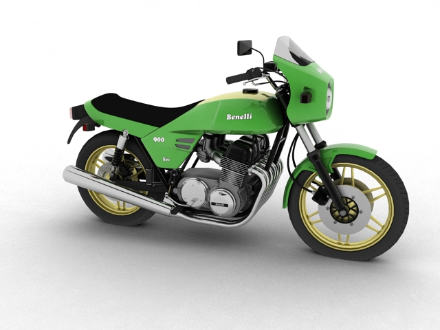 benelli 900 sei 1984 3d model 3ds max fbx c4d obj 154564