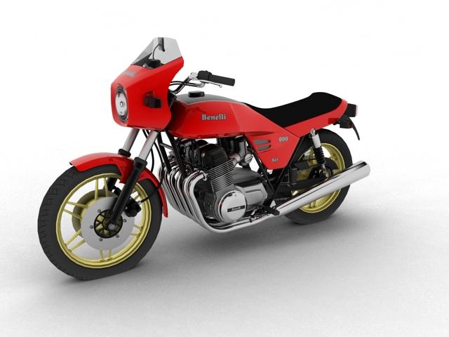 benelli 900 sei 1984 3d model 3ds max fbx c4d obj 154567