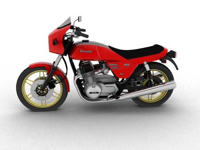 benelli 900 sei 1984 3d model 3ds max fbx c4d obj 154568