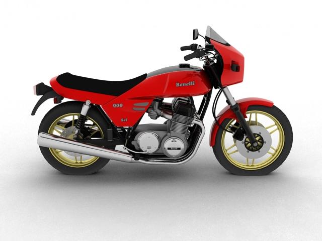 benelli 900 sei 1984 3d model 3ds max fbx c4d obj 154573