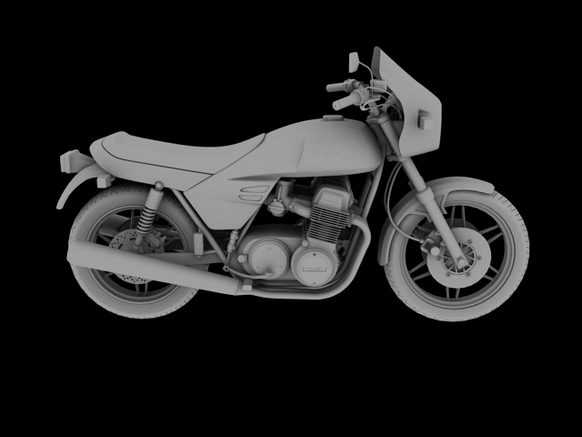 benelli 900 sei 1984 3d model 3ds max fbx c4d obj 154577