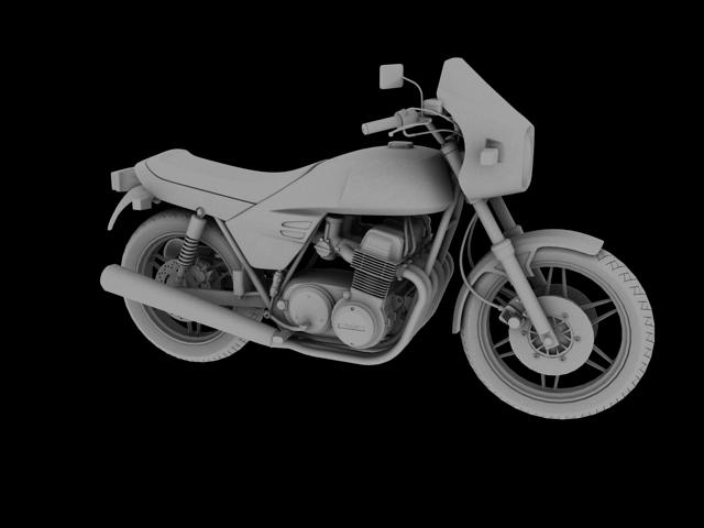 benelli 900 sei 1984 3d model 3ds max fbx c4d obj 154578