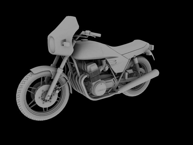 benelli 900 sei 1984 3d model 3ds max fbx c4d obj 154579
