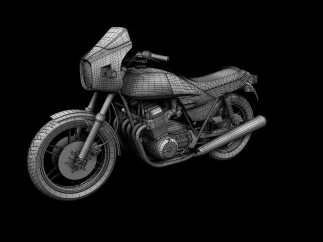 benelli 900 sei 1984 3d model 3ds max fbx c4d obj 154583