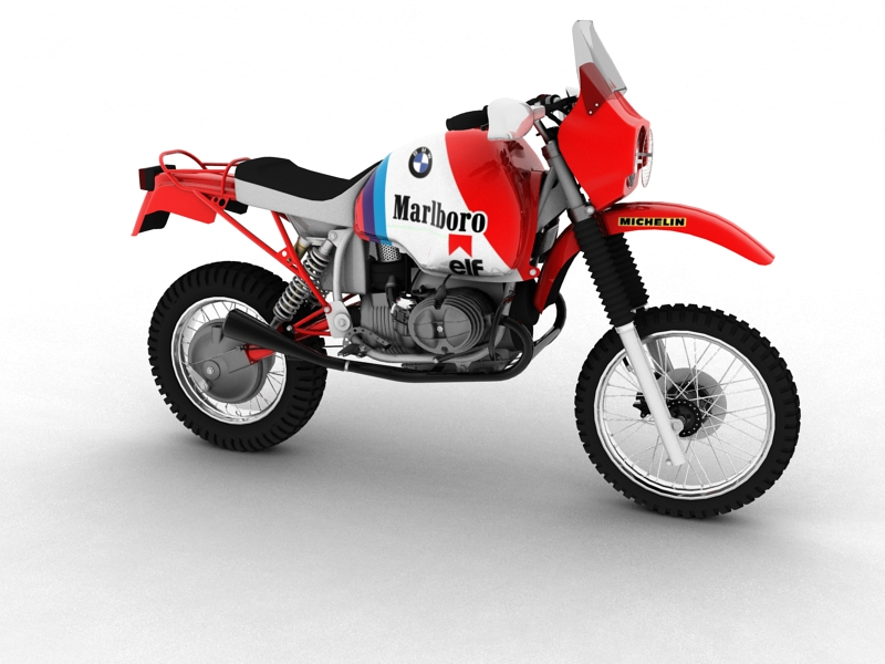 bmw gs980r dakar 1985 3d model 3ds max dxf fbx c4d obj 159253