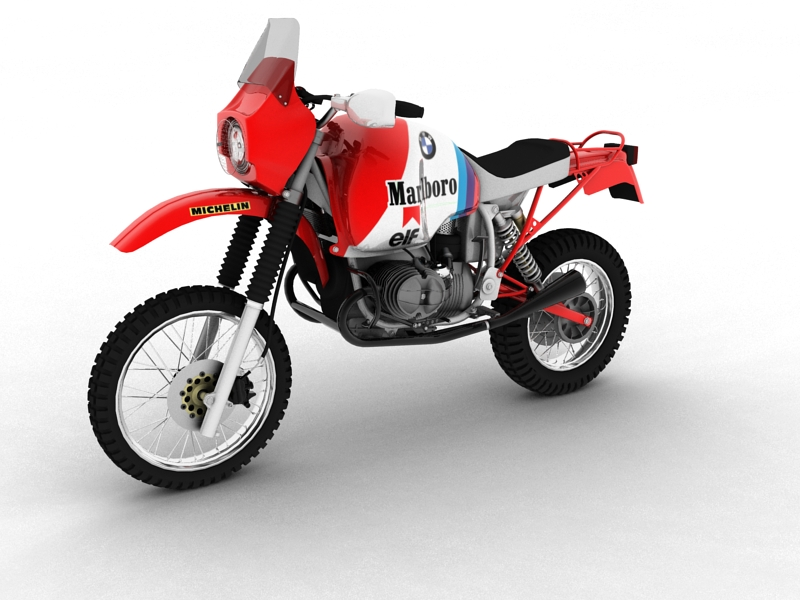bmw gs980r dakar 1985 3d model 3ds max dxf fbx c4d obj 159254