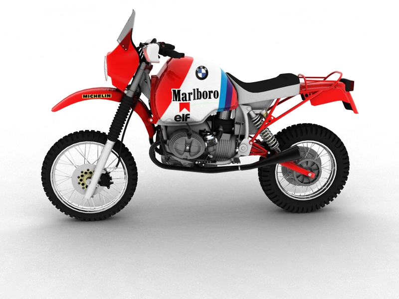 bmw gs980r dakar 1985 3d model 3ds max dxf fbx c4d obj 159255