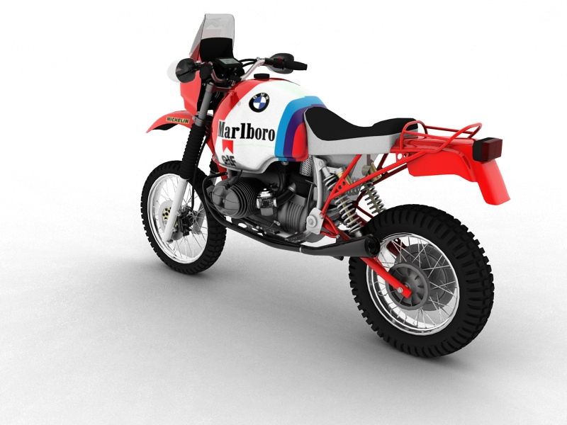 bmw gs980r dakar 1985 3d model 3ds max dxf fbx c4d obj 159256