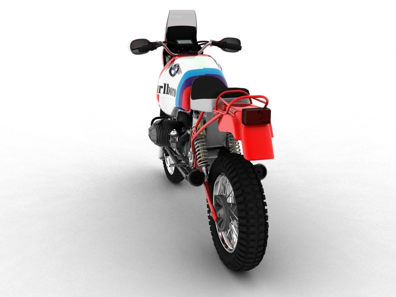 bmw gs980r dakar 1985 3d model 3ds max dxf fbx c4d obj 159257