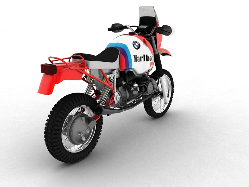 bmw gs980r dakar 1985 3d model 3ds max dxf fbx c4d obj 159258