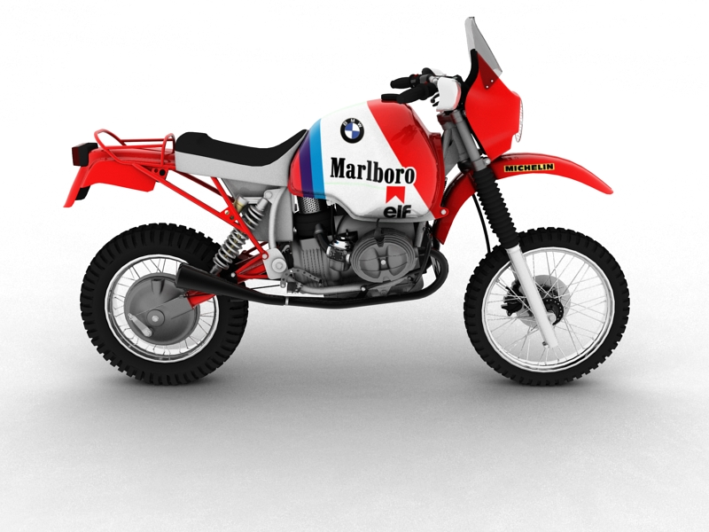 bmw gs980r dakar 1985 3d model 3ds max dxf fbx c4d obj 159259