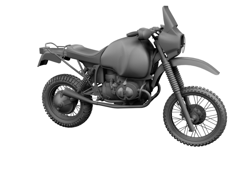 bmw gs980r dakar 1985 3d model 3ds max dxf fbx c4d obj 159260