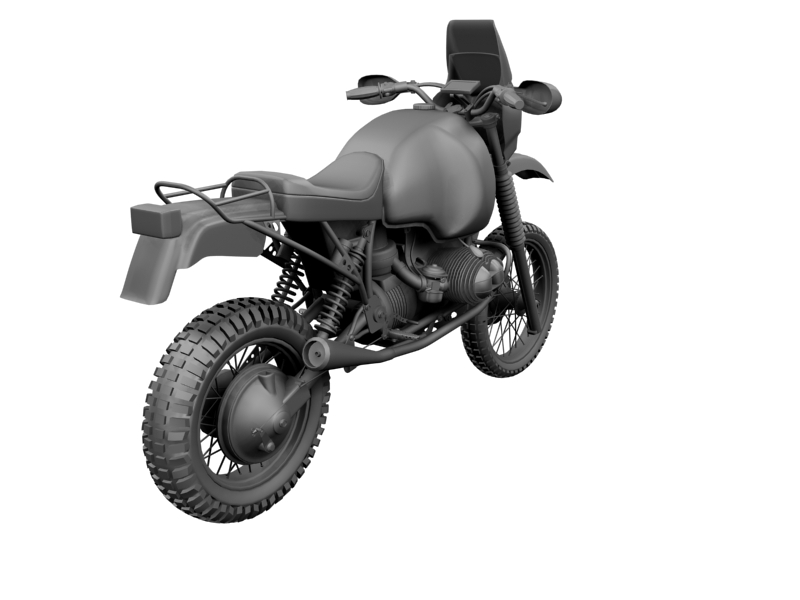 bmw gs980r dakar 1985 3d model 3ds max dxf fbx c4d obj 159265