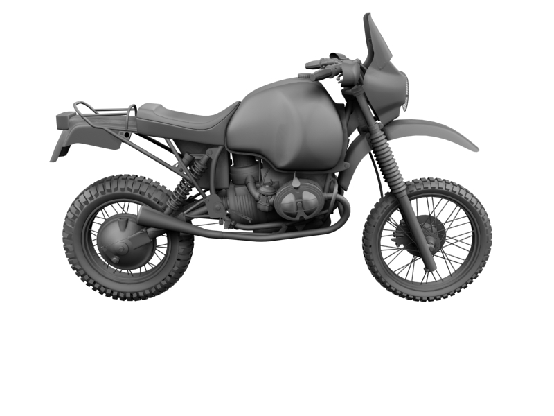 bmw gs980r dakar 1985 3d model 3ds max dxf fbx c4d obj 159266