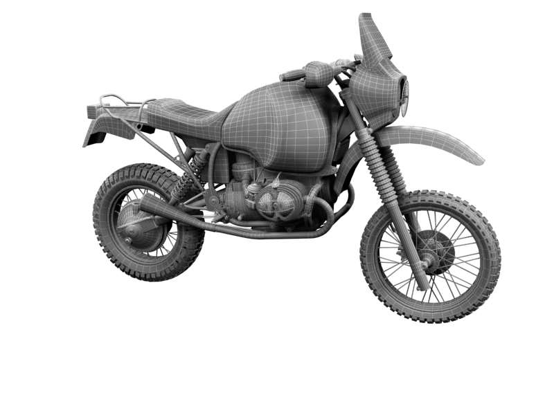 bmw gs980r dakar 1985 3d model 3ds max dxf fbx c4d obj 159267