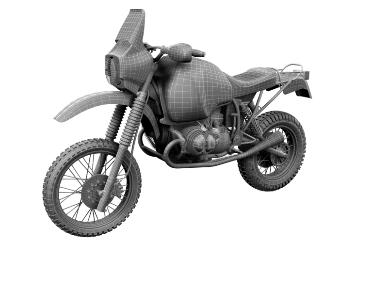 bmw gs980r dakar 1985 3d model 3ds max dxf fbx c4d obj 159268