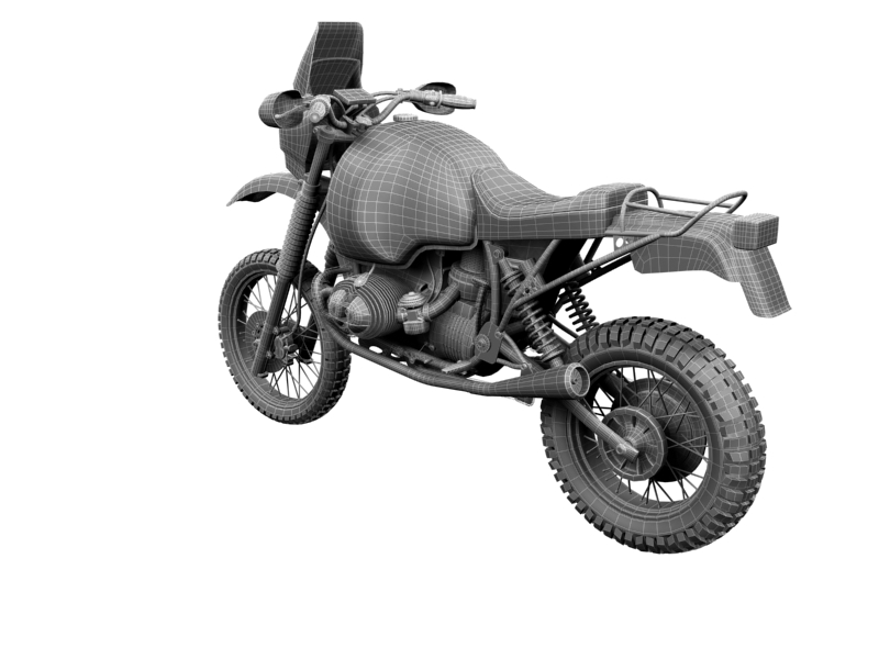bmw gs980r dakar 1985 3d model 3ds max dxf fbx c4d obj 159270