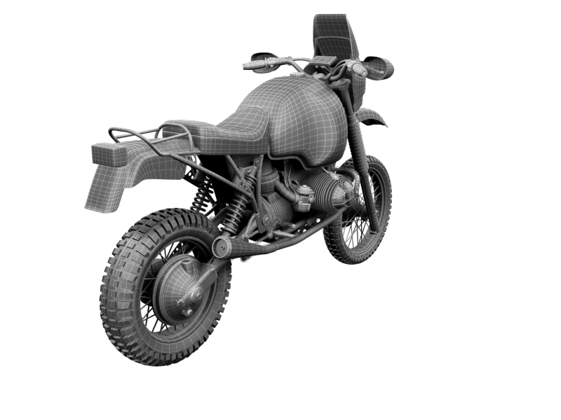 bmw gs980r dakar 1985 3d model 3ds max dxf fbx c4d obj 159272