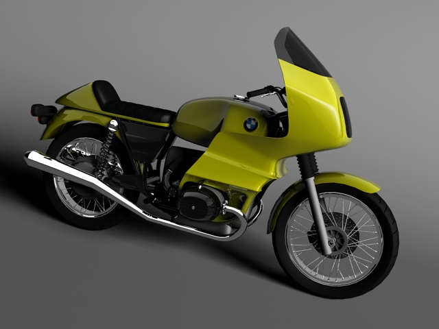 bmw r100 rs teithio 1978 3d model 3ds max c4d obj 147671