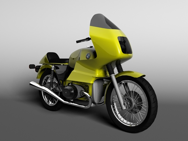 bmw r100 rs obilazak 1978 3d model 3ds max c4d obj 147672